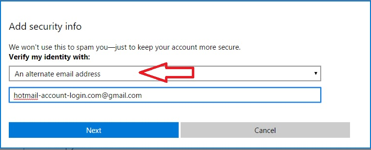 add alternate addresses to a Hotmail Account 4