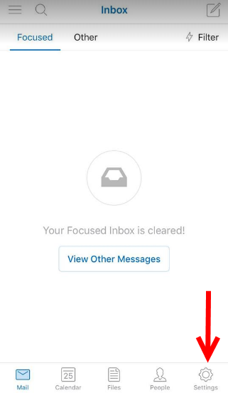 Sign out Hotmail (Outlook) on iOS 1